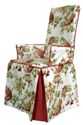 Chair slipcover for chair with arms